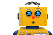 canvas print picture - Toy robot looking to the left