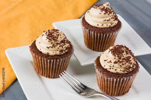 Fotografie, Obraz  Mocha Cupcakes
