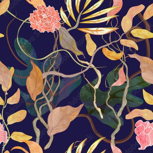 modny-wzor-z-motywem-portu-rosliny-watecolor