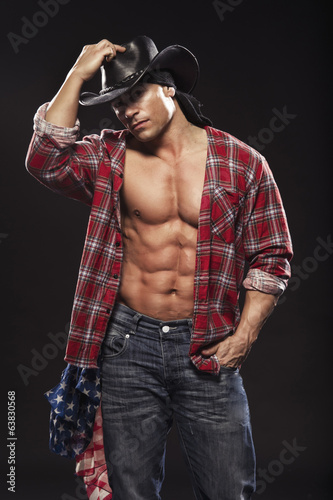 Sexy men like cowboy Wall mural