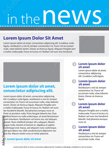 Fotografía  Newsletter template layout