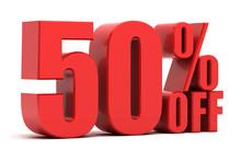 50 Percent Off Promotion