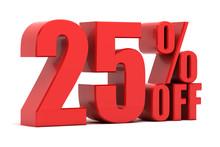 25 Percent Off Promotion