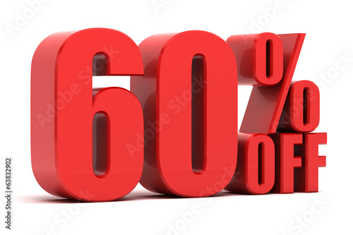 Fotografia  60 percent off promotion