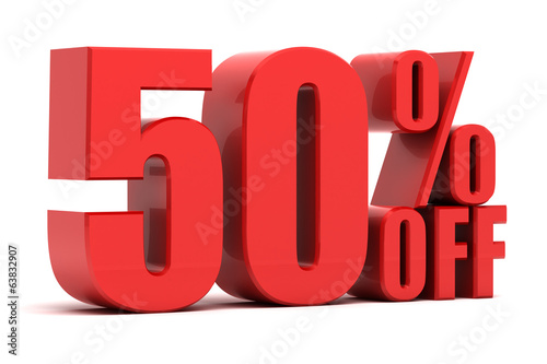 Photo  50 percent off promotion