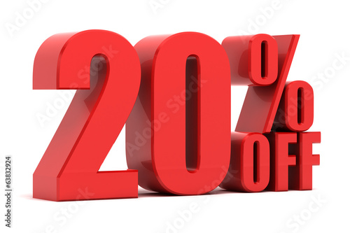 Photo  20 percent off promotion