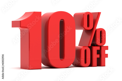 Fotografía 10 percent off promotion