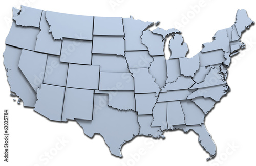 Photo  USA America states national map