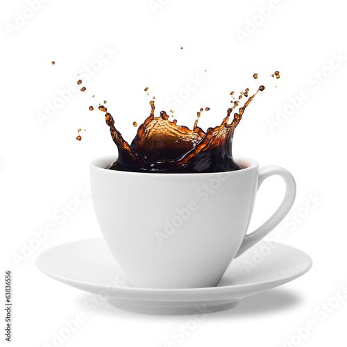 Fototapeta splashing coffee obraz