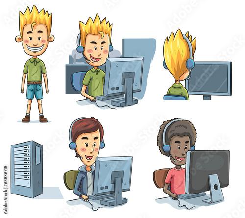 Boys Playing Computer #63836718