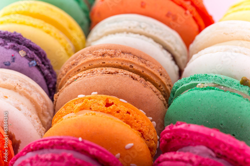 Colorful french macaroons Poster