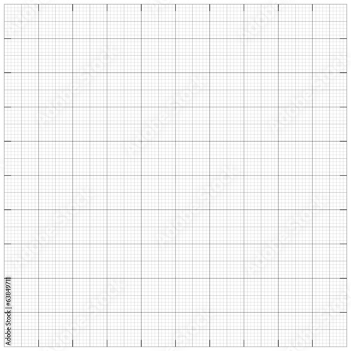Fotografía  Square grid millimetre graph paper background. Vector illustrati