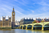 Westminster Bridge, Houses of Parliament and Thames river, UK