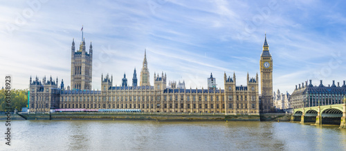 Foto op Canvas Londen Westminster with Big Ben of London panorama