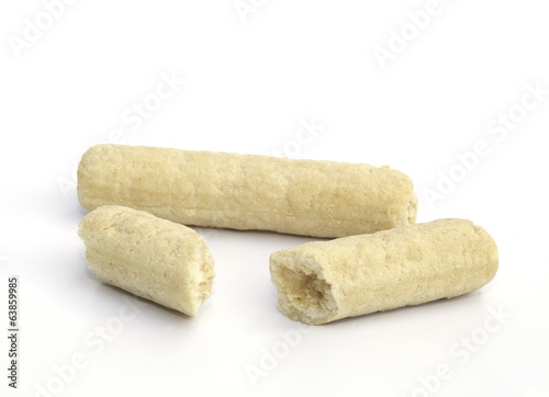 Photographie  Mixed cereal cracker isolated on the white background