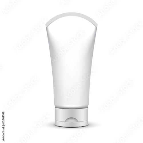 Fotografie, Obraz  Tube Of Cream Or Gel Grayscale Silver White Clean
