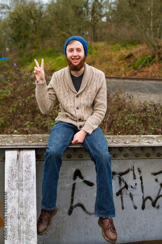Photo  Hippie Peace Sign
