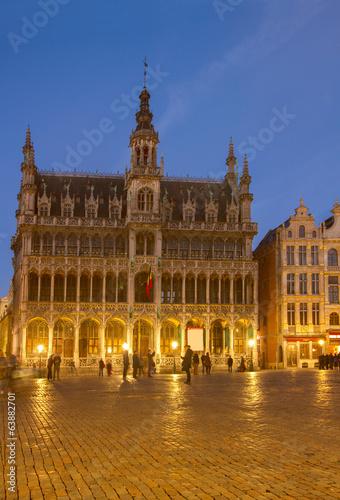 Poster Brussel illuminated Maison du Roi, Brussels