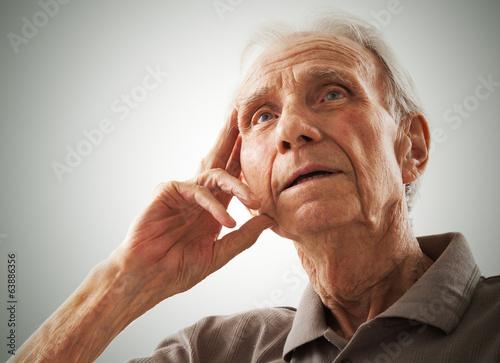 Fotografie, Obraz  Portrait of elderly senior men