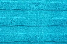 Blue Cotton Bath Towel Texture...