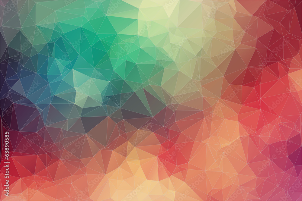 Fototapety, obrazy: Abstract 2D geometric colorful background