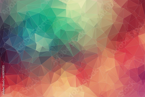 Fotografie, Tablou Abstract 2D geometric colorful background