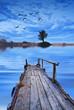 el lago antes del amanecer
