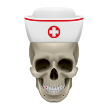 Skull In Nurse Cap