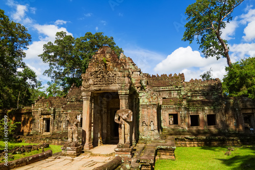 Foto op Canvas Ancient Preah Khan temple entrance, Cambodia