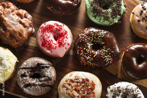 Photo  Assorted Homemade Gourmet Donuts