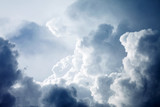 Dramatic sky with stormy clouds - 63906528