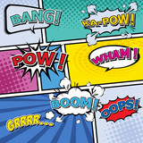 comic template Vector Pop-Art