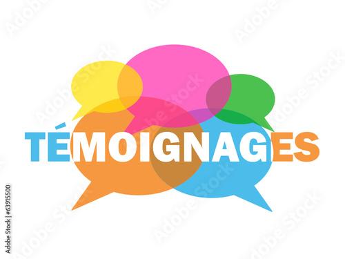 Bulles TEMOIGNAGES (dialogue débat avis clients utilisateurs) Canvas Print