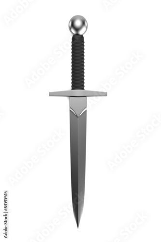 realistic 3d render of dagger Fotobehang
