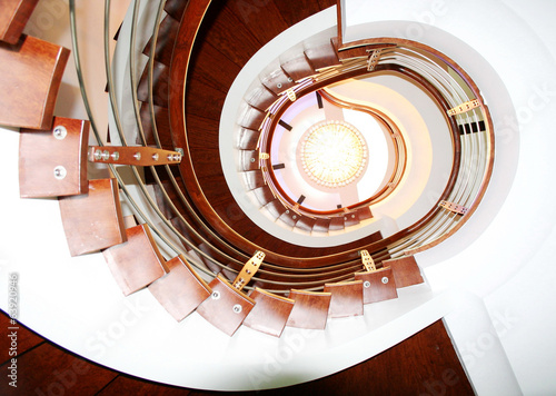 Photo sur Toile Spirale 階段