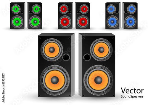 Fotobehang Graffiti collage Speaker stereo systems
