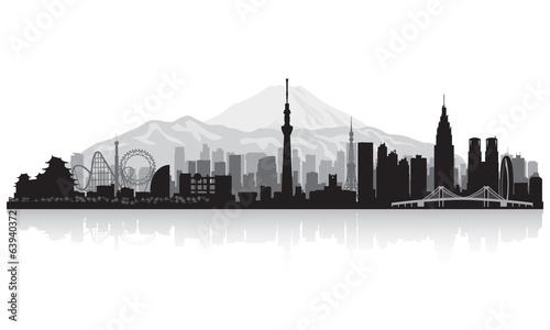 Photo  Tokyo Japan city skyline silhouette