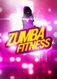Zumba fitness training background