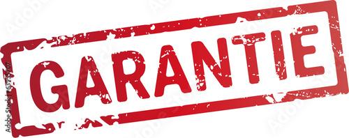 Stempel Garantie rot Canvas Print