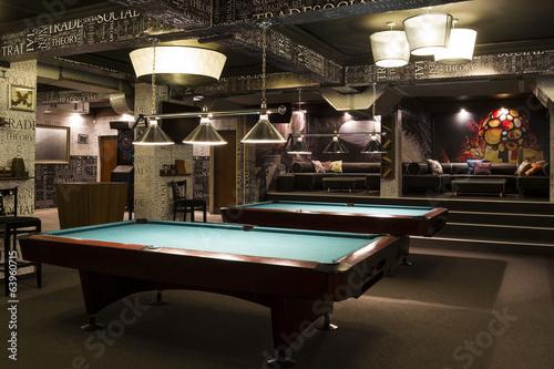 Fotografie, Tablou  Billiard interior