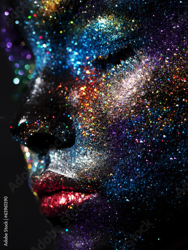 Poster UFO Makup with sequins