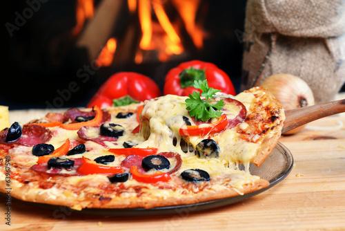 Wall Murals Pizzeria tasty pizza