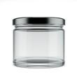 Leinwanddruck Bild - Empty glass jar