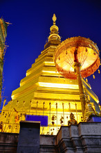 Wat Phra That Cho Hae In Phrae At Night Time