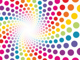 circular background made ​​up of colored dots to be lost