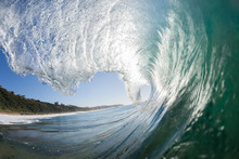 Wave Inside Hollow Crashing Ocean