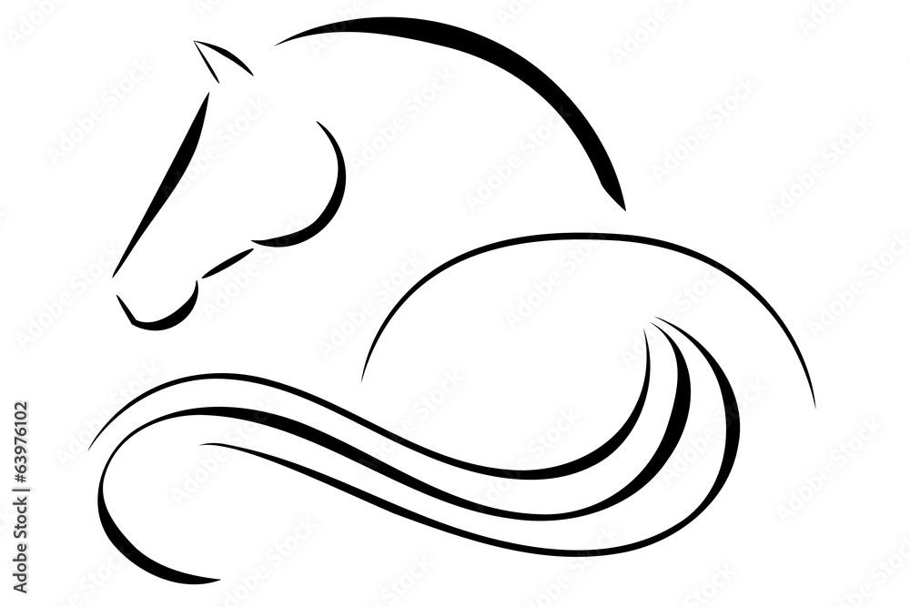 Fototapety, obrazy: Horse logo vector
