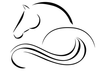 Panel Szklany Sport Horse logo vector