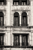 Traditional Venetian Facade. Black and White - 63979185