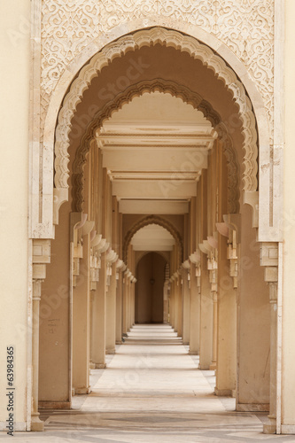 Photo  Casablanca, Morocco: Intricate exterior marble and mosaic stone